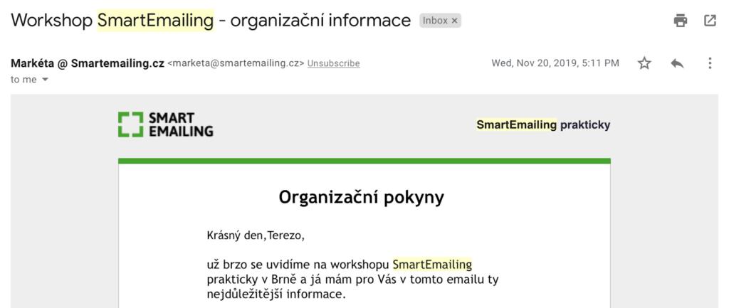 Personalizace v e-mailingu