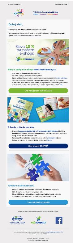 Uvítací e-mail: NaseVitaminy.cz