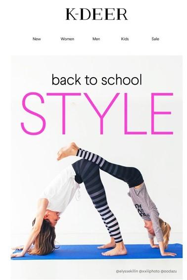 Kampaň zpátky do školy: stylově