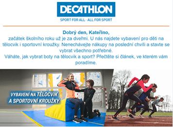 Kampaň zpátky do školy: Decathlon
