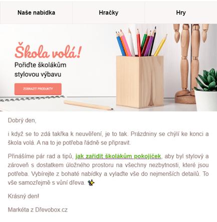 Kampaň zpátky do školy: Dřevobox